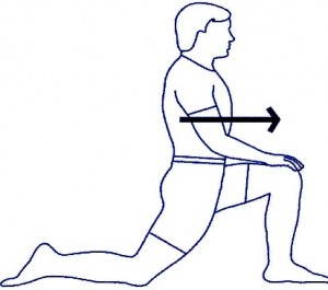 stretches for office workers kneeling hip flexor