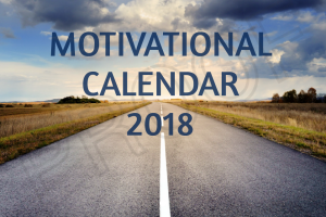 motivational goal setting calendar 2018