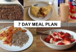 basic 7 day Meal Plan for building muscle