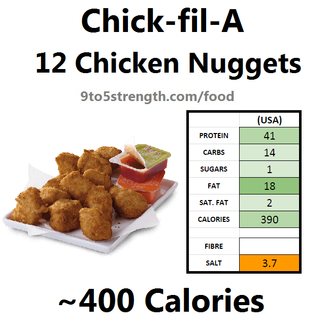 chick-fil-a nutrition information calories nuggets