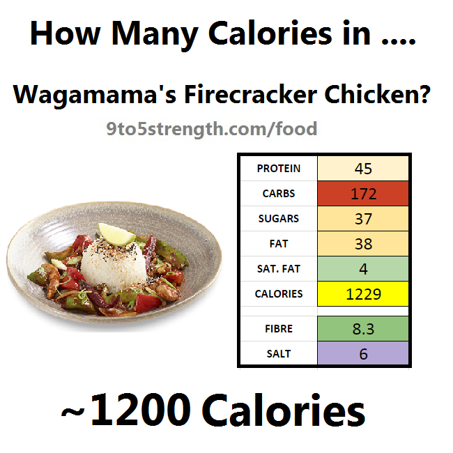 how many calories in wagamama firecracker chicken