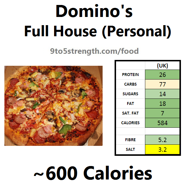 nutrition info calories domino's pizza full house
