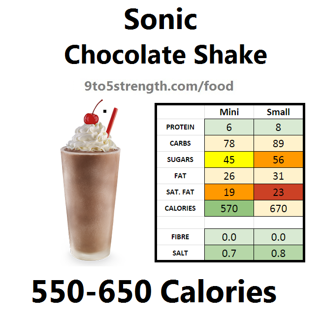 calories in sonic chocolate shake
