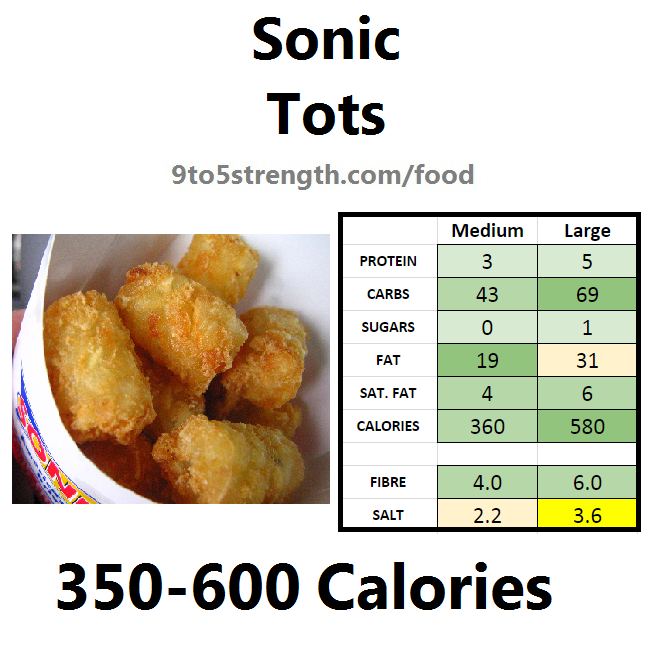 calories in sonic tots