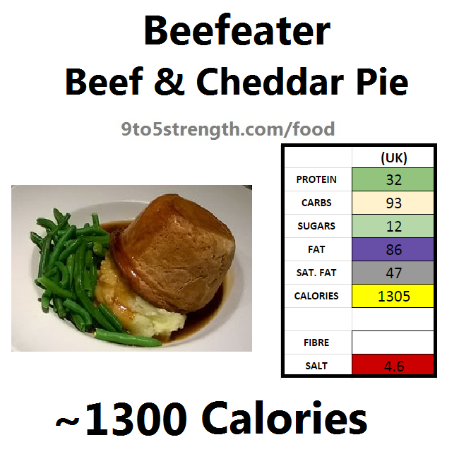 calories in beefeater beef cheddar pie
