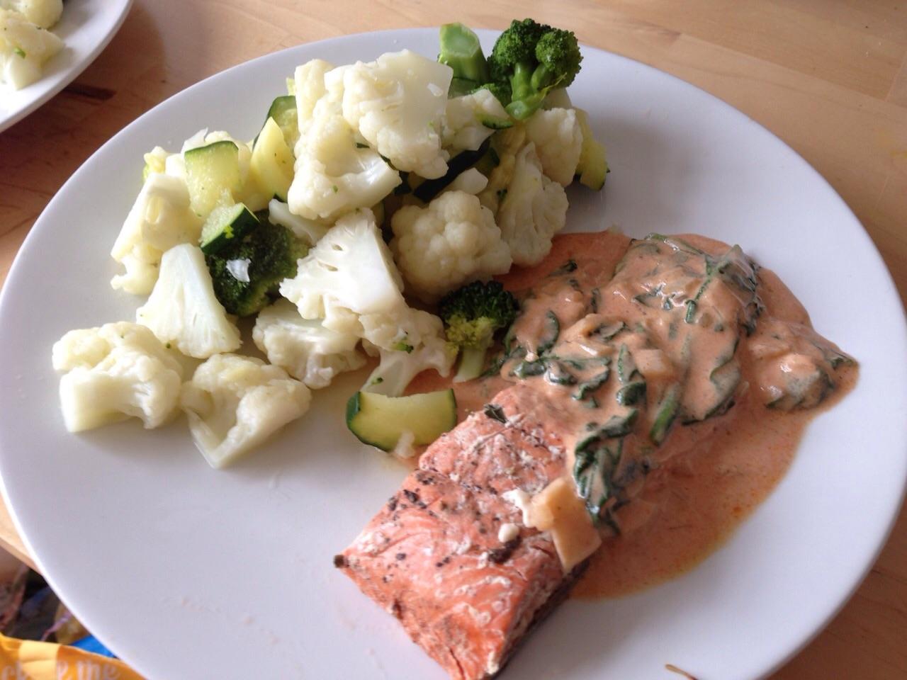 Salmon, Cruciferous Veg