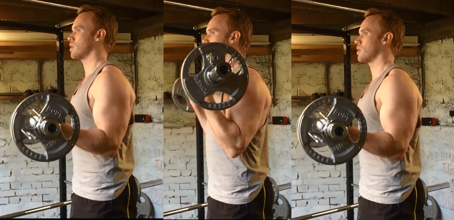 barbell 21's middle 7 reps