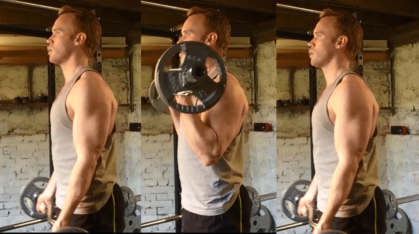 barbell 21's last 7 reps