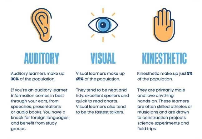 learning styles auditory viual kinesthetic
