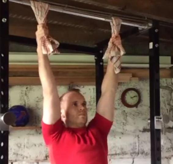 towel hang grip strength forearm exercises mass