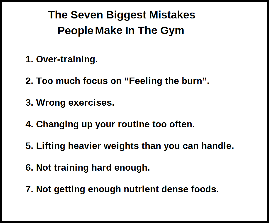seven mistakes made gym