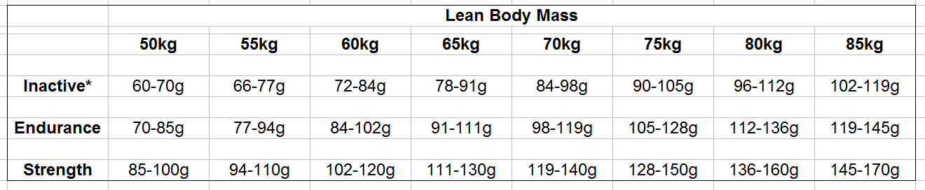Protein intake lean body mass