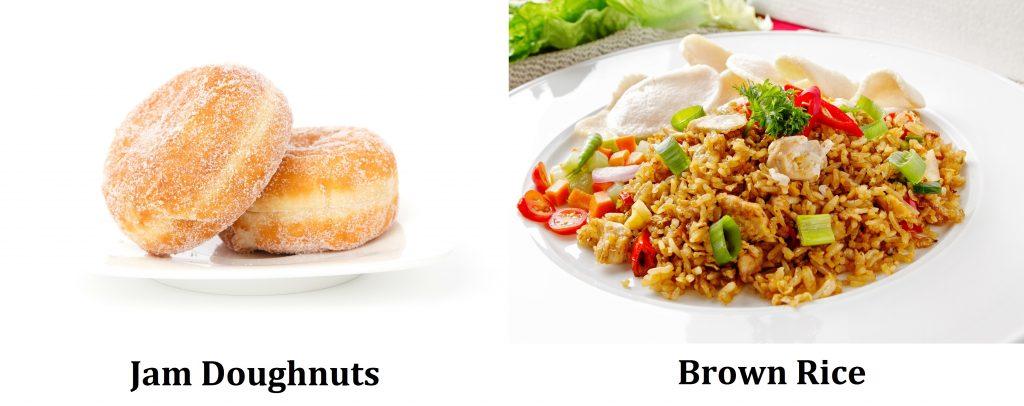 jam doughnuts brown rice