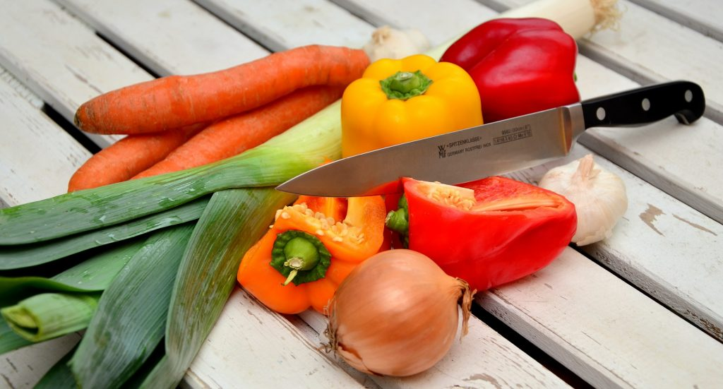 vegetables chopping board
