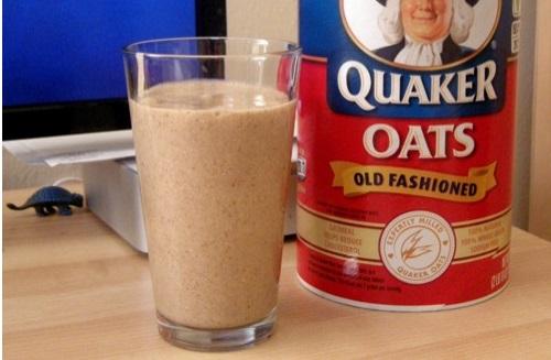 vegan protein shake oatmeal peanut butter