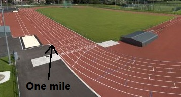 one mile marker athletics track
