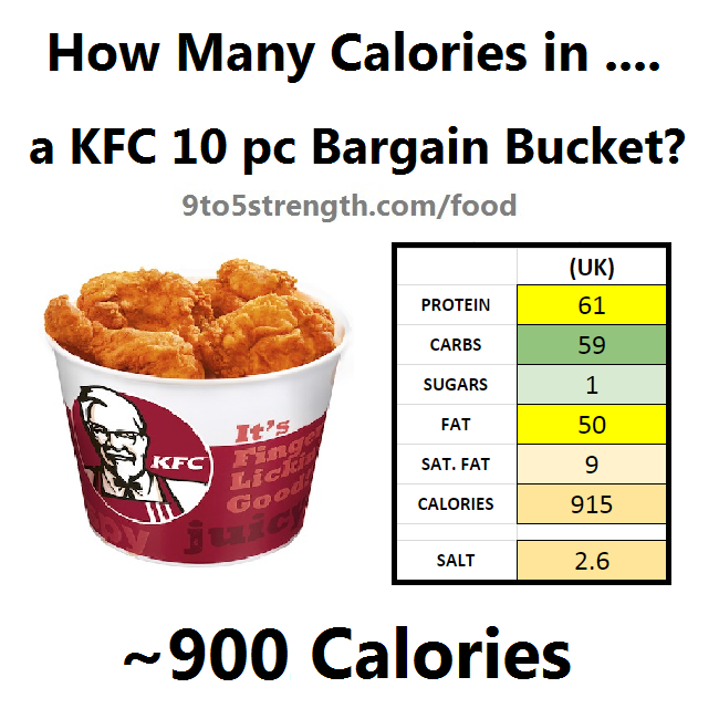 how many calories in kfc bargain bucket