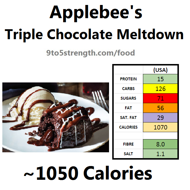 applebee's nutritional information calories triple chocolate meltdown