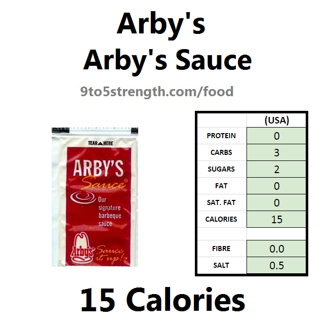 arby's nutrition information calories arby's sauce