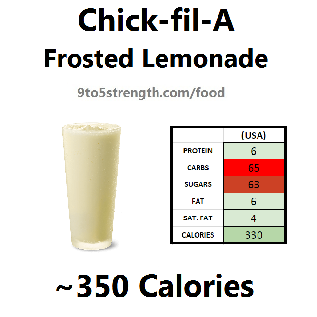 chick-fil-a nutrition information calories lemonade