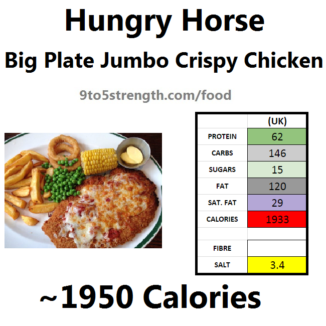 hungry horse nutrition information calories jumbo crispy chicken