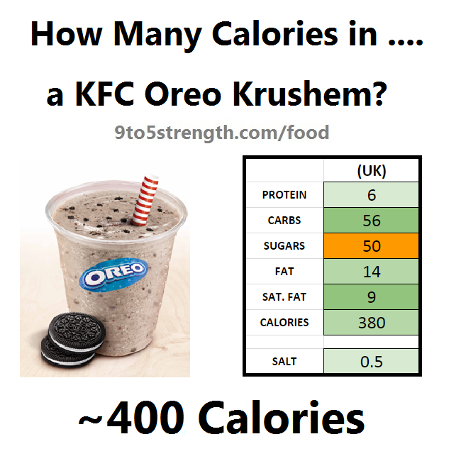 how many calories in kfc oreo krushem