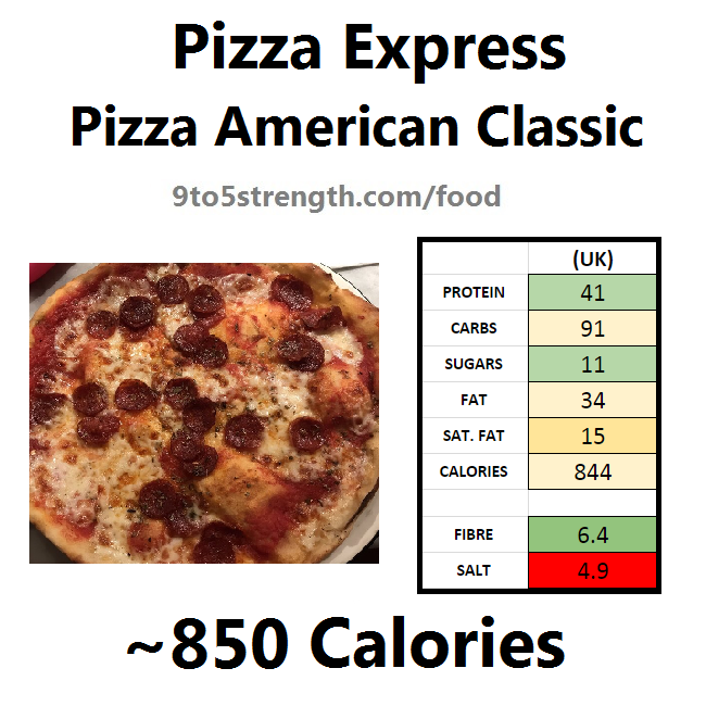 pizza express calories nutrition information pizza american classic