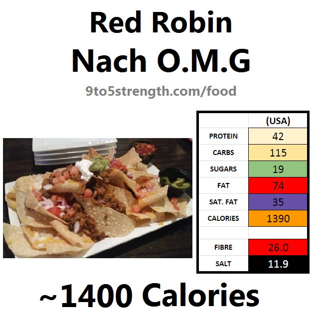 nutrition information calories red robin nacho omg