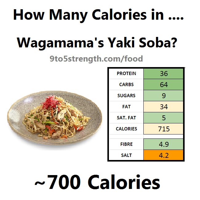 how many calories in wagamama yaki soba