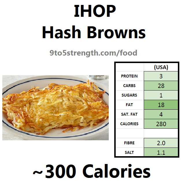 nutrition information calories IHOP hash browns