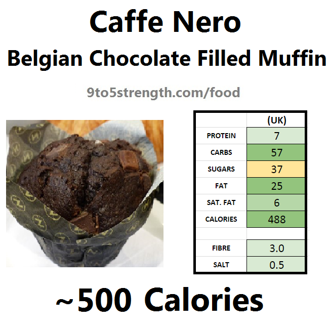 nutrition information calories caffe nero belgian chocolate muffin