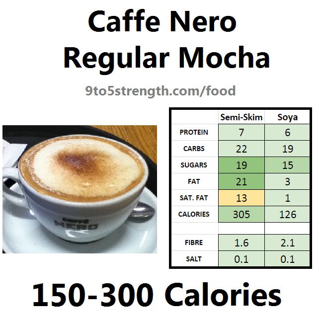 nutrition information calories caffe nero mocha
