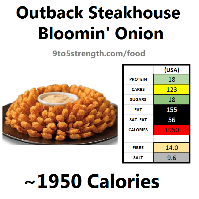 outback steakhouse calories nutrition info menu bloomin onion