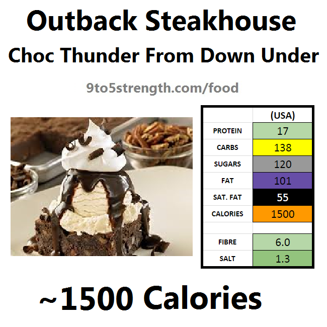 outback steakhouse calories nutrition info menu chocolate thunder from down under