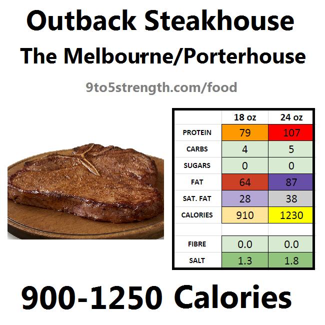 outback steakhouse calories nutrition info menu melbourne porterhouse