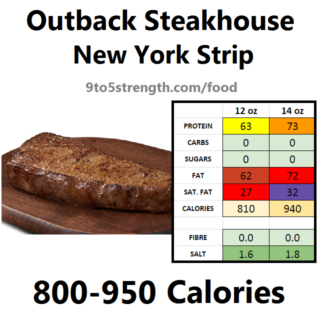 outback steakhouse calories nutrition info menu new york strip