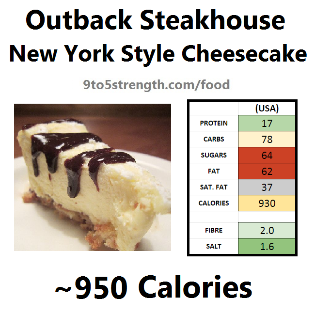 outback steakhouse calories nutrition info menu new york style cheesecake