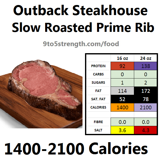 outback steakhouse calories nutrition info menu slow roasted prime rib