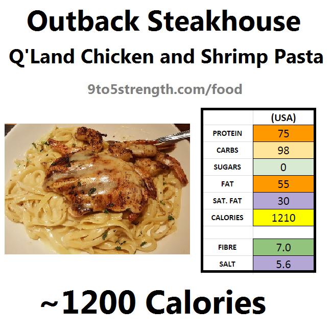 outback steakhouse calories nutrition info menu queensland chicken shrimp pasta