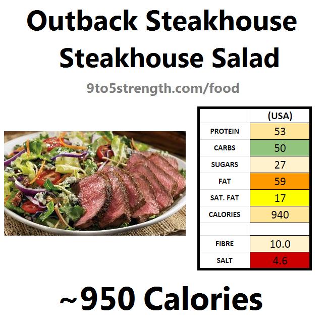 outback steakhouse calories nutrition info menu steakhouse salad