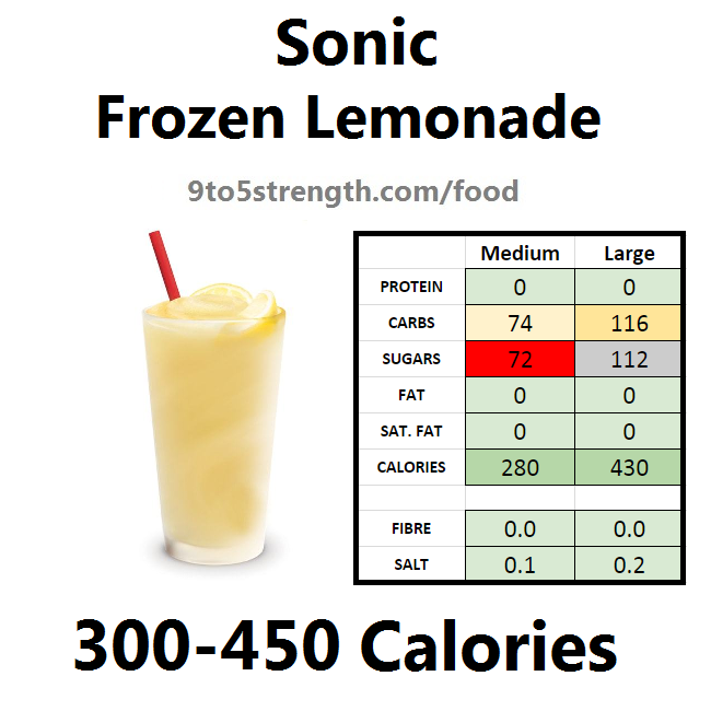 calories in sonic frozen lemonade