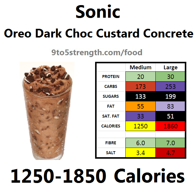 calories in sonic oreo dark chocolate custard concrete