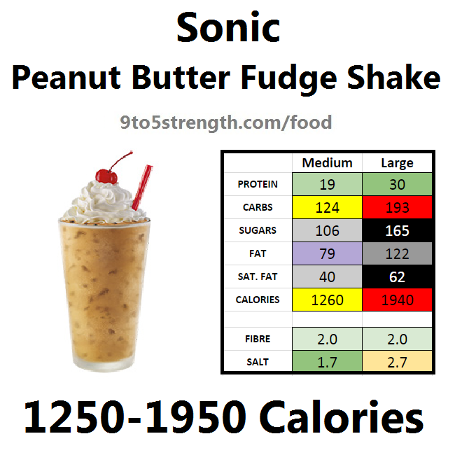 calories in sonic peanut butter fudge shake