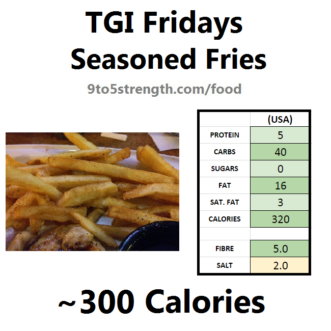 TGI Fridays calories nutrition information menu seasoned fries