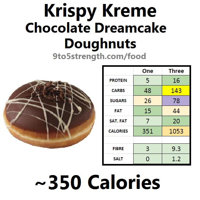 krispy kreme calories doughnut donut chocolate dreamcake