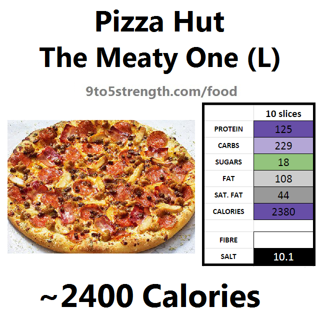 nutrition information calories pizza hut meaty one