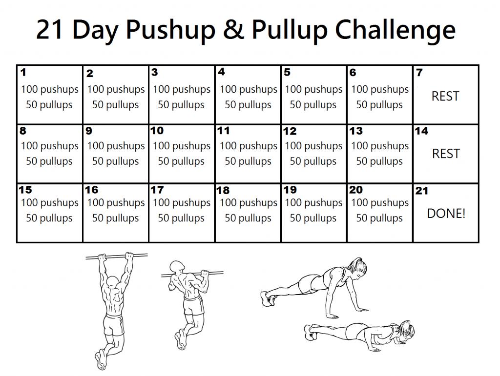 100 Push Ups & 50 Pull ups - 21 Day Results